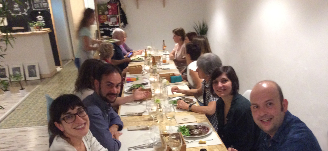 Cena en inglés de la academia Everywhere English Coaching